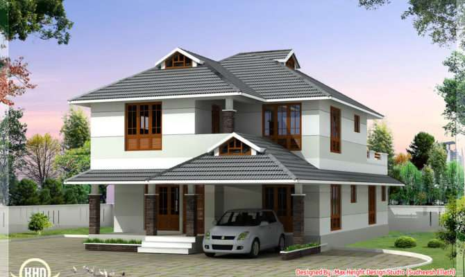 Feet Beautiful Bedroom House Plan Kerala Home Design