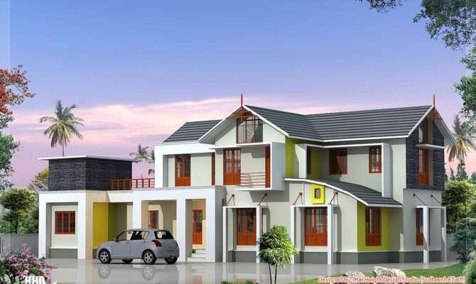 Feet Bedroom House Elevation Kerala Design