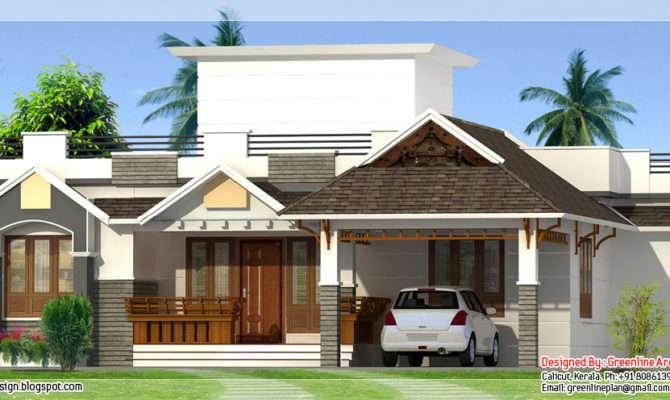 Feet Bedroom Single Storey House Indian Plans