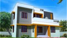 Feet Modern Contemporary Home Exterior Indian House Plans