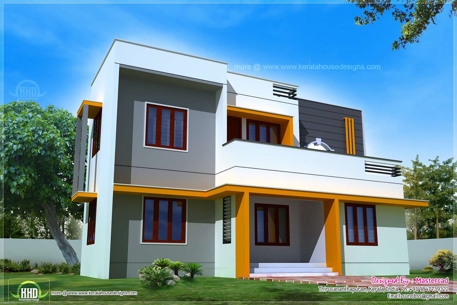 Feet Modern Contemporary Home Exterior Indian House Plans