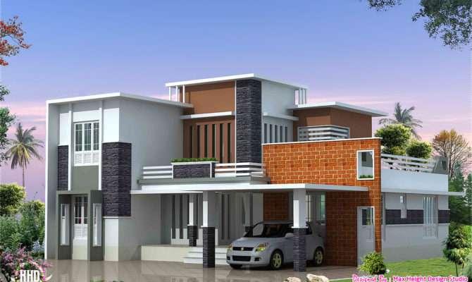 Feet Modern Contemporary Villa Kerala Home