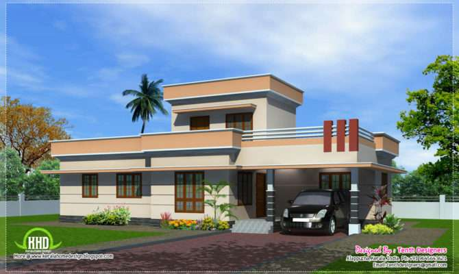 Feet One Floor House Exterior Home Kerala Plans