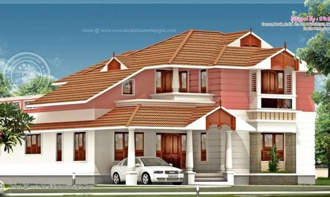 Feet Slanting Roof House Design Plans