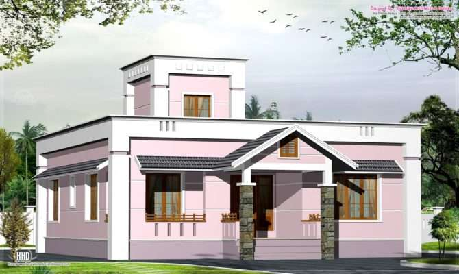 Feet Small Budget Villa Plan Kerala Home Design Floor Plans