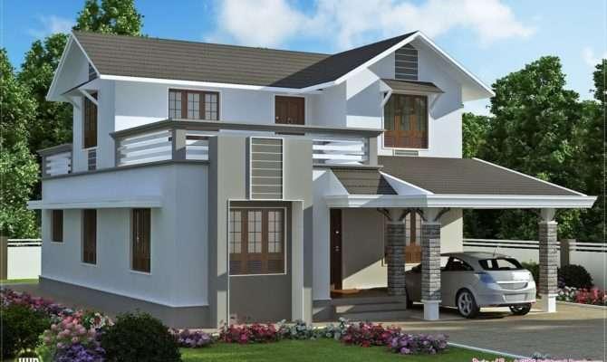 Feet Storey Villa Plan Kerala Home Design Floor Plans