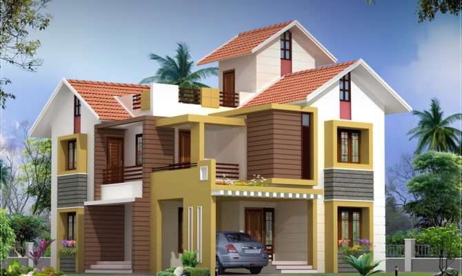Feet Villa Floor Plan Elevation Kerala Home Design