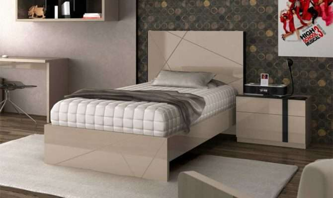 Fenicia Contemporary High Gloss Single Bed Opt