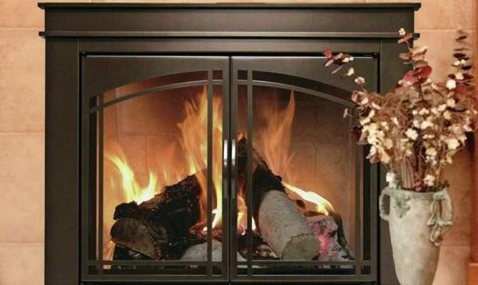 Fenwick Cabinet Style Fireplace Screen Arch Prairie Smoked Glass