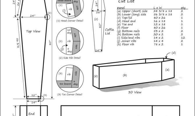 Figure Coffin Blueprints