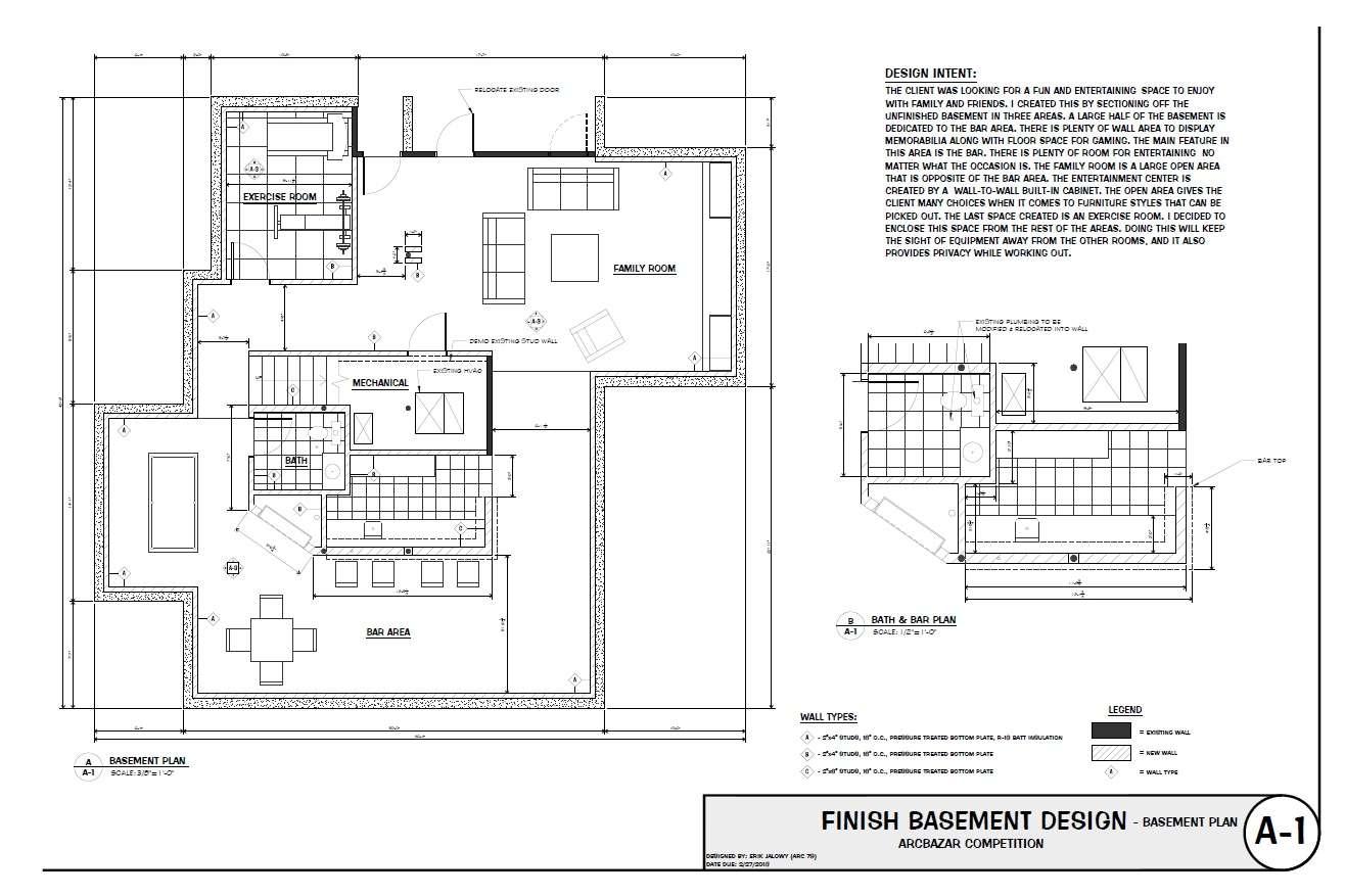 Finishing Designed Erik Jalowy Basement Finish Floyd Knobs