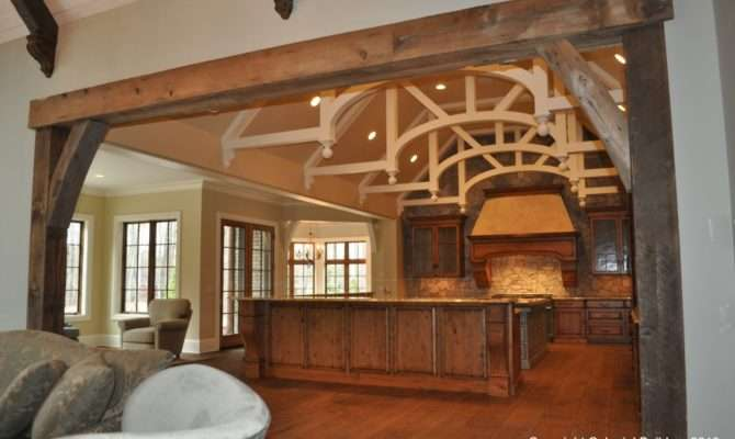 Fireplace Mantle Great Room Beams Bookmark Permalink