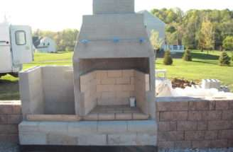 Fireplace Plans Suppose Concrete Block Outdoor