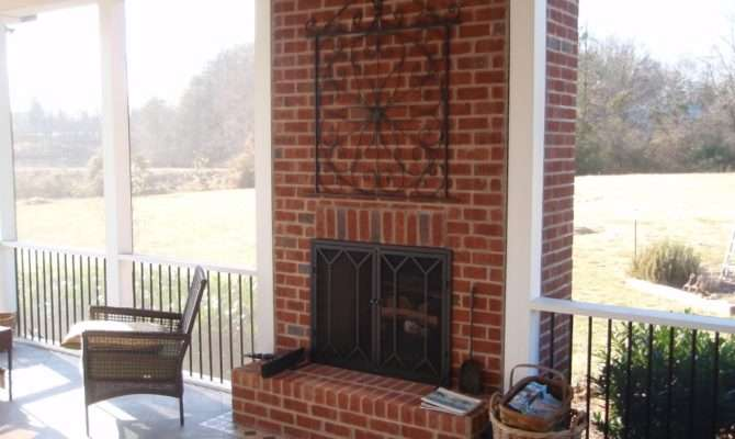 Fireplace Screened Porch Outdoor Spaces Pinterest