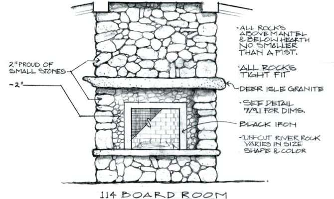 Fireplaces Construction Fireplace Drawings