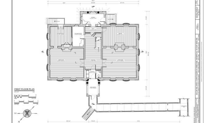First Floor Plan Ellis Island Contagious Disease