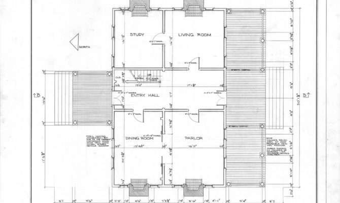 First Floor Plan Scotch Hall Bertie County North Carolina