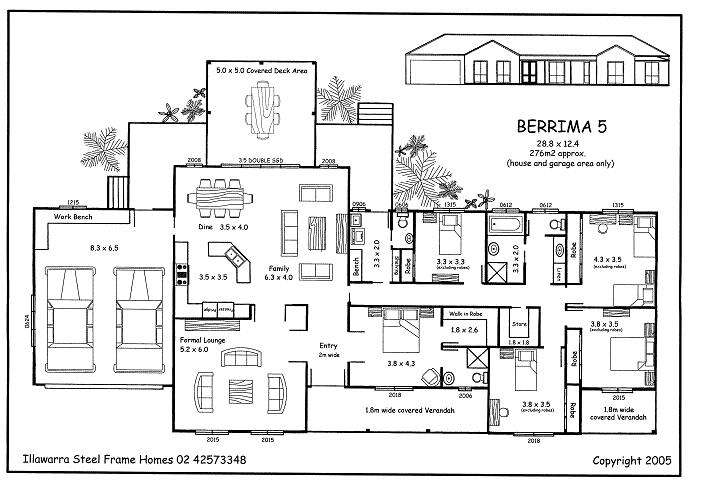Five Bedroom House Plans