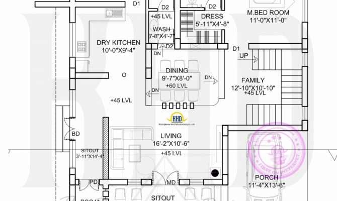 Flat Roof House Plan Elevation Kerala Home Design