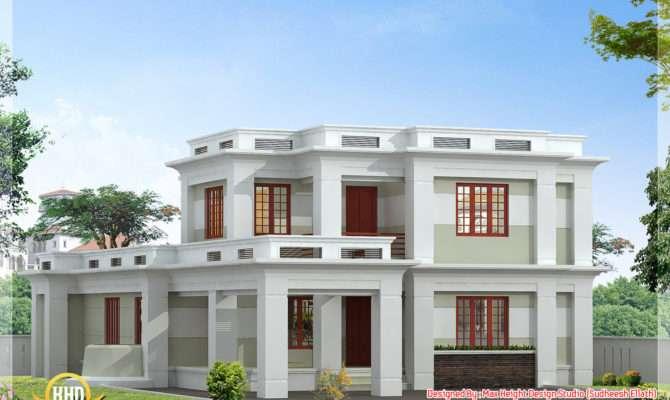 Flat Roof Modern Home Design Kerala