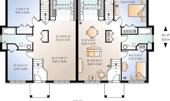 Flexible Two House Plan Floor