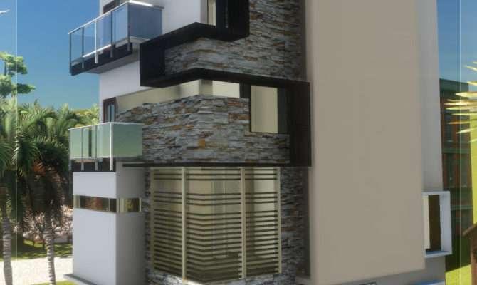 Floor Contemporary Narrow Home Design Taste Heaven