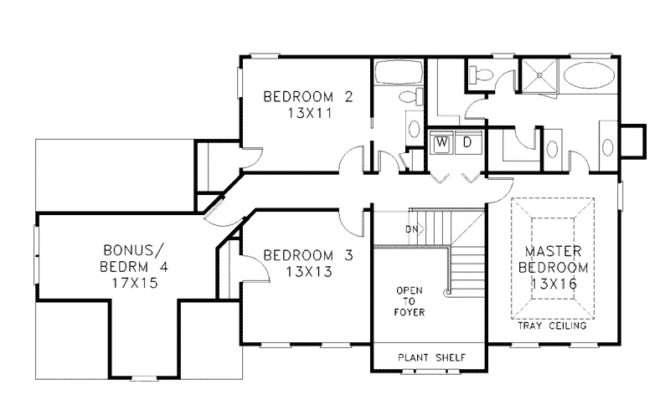 Floor House Plans Modern Two Story