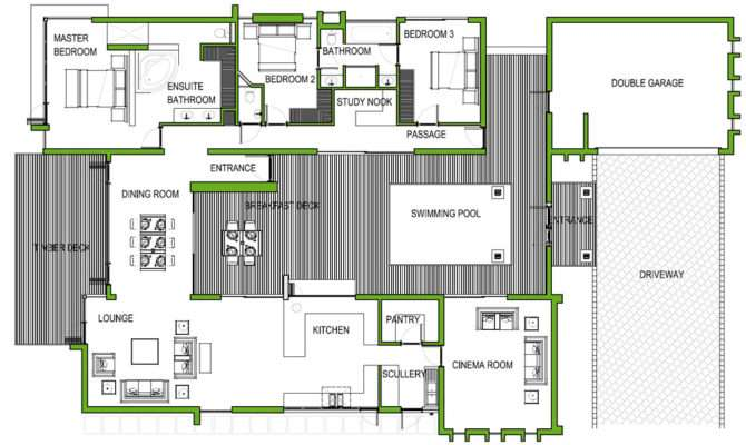 Floor Plan Bedroom House South Africa Home Deco Plans
