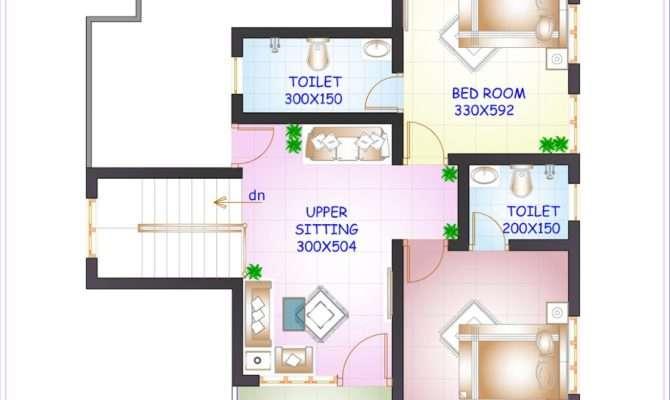Floor Plan Elevation Feet Bedroom House