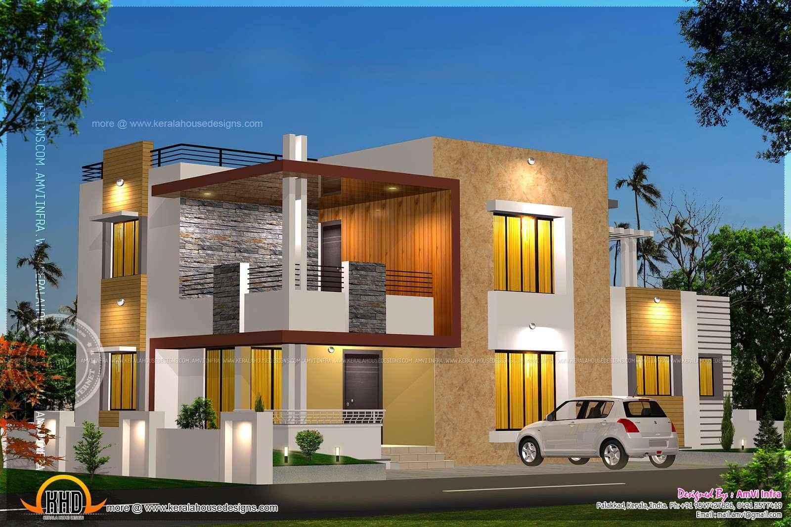 Floor Plan Elevation Modern House Kerala Home