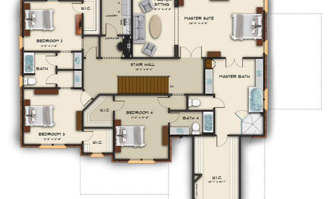 Floor Plan Examples Color Black White