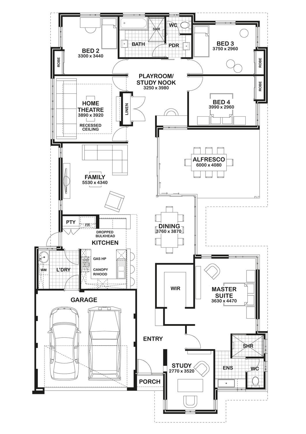 Floor Plan Friday Study Home Theatre Open Play Area