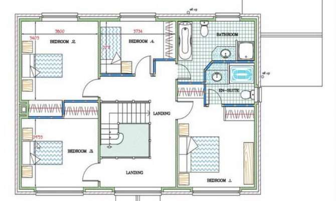 Floor Plan Great House Plans Black White