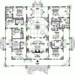 Floor Plan Hacienda Style House Plans Atrium