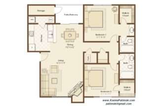 Floor Plan Illustration Property Brochure Design House