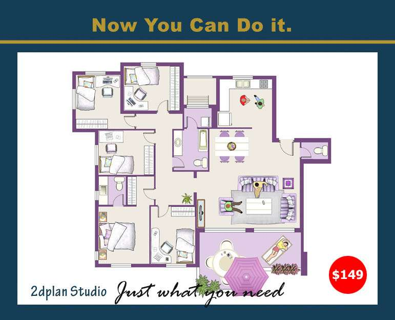 Floor Plan Layout Design House Graphic