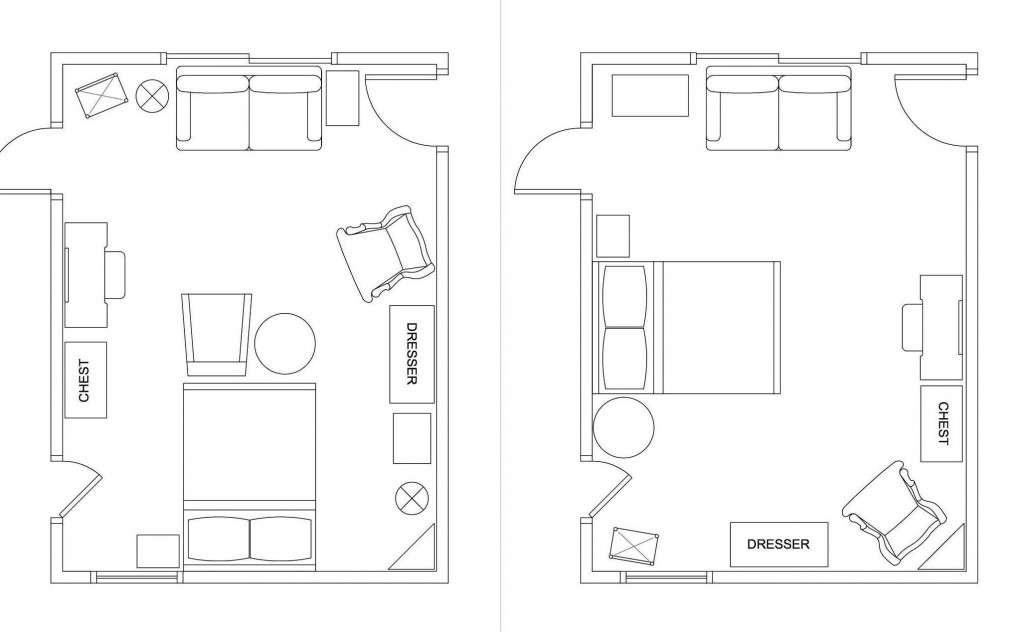 Floor Plan Left Shows Arrangement Began