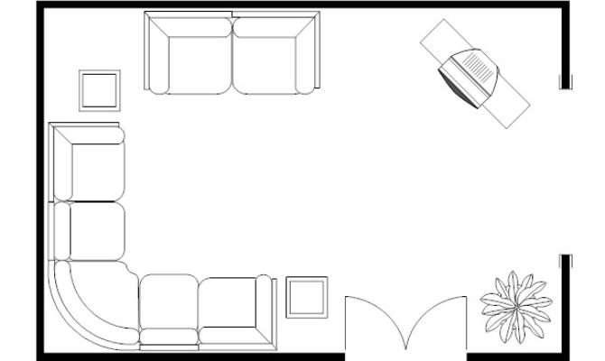 Floor Plan Living Room Home Design