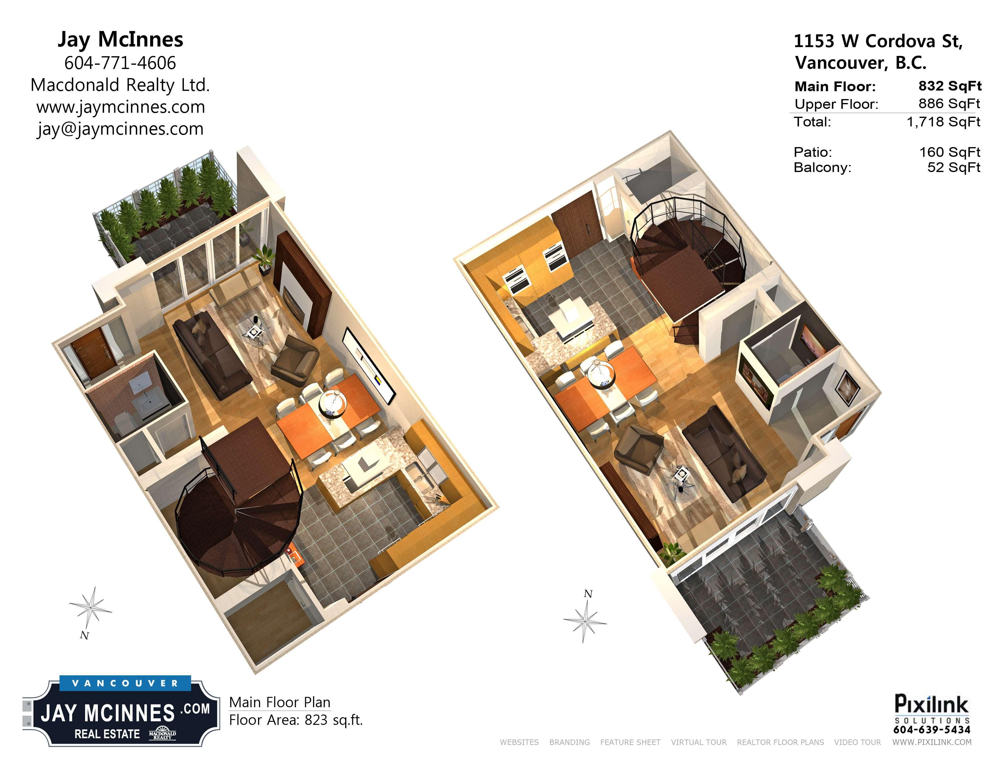 Floor Plan Main Coal Harbour Luxury Townhouse Jaymcinnes