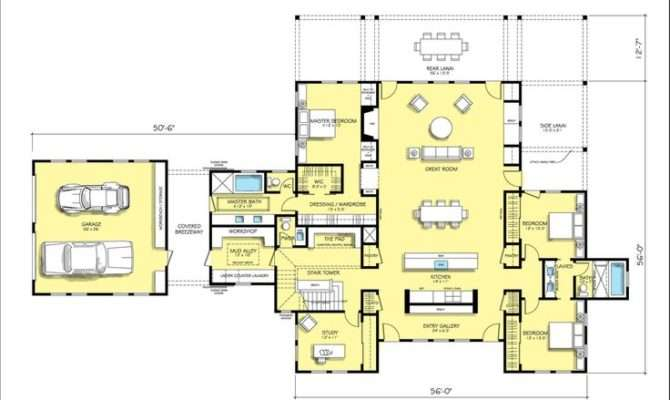 Floor Plan Modern Farmhouse Like Main Layout Only Has