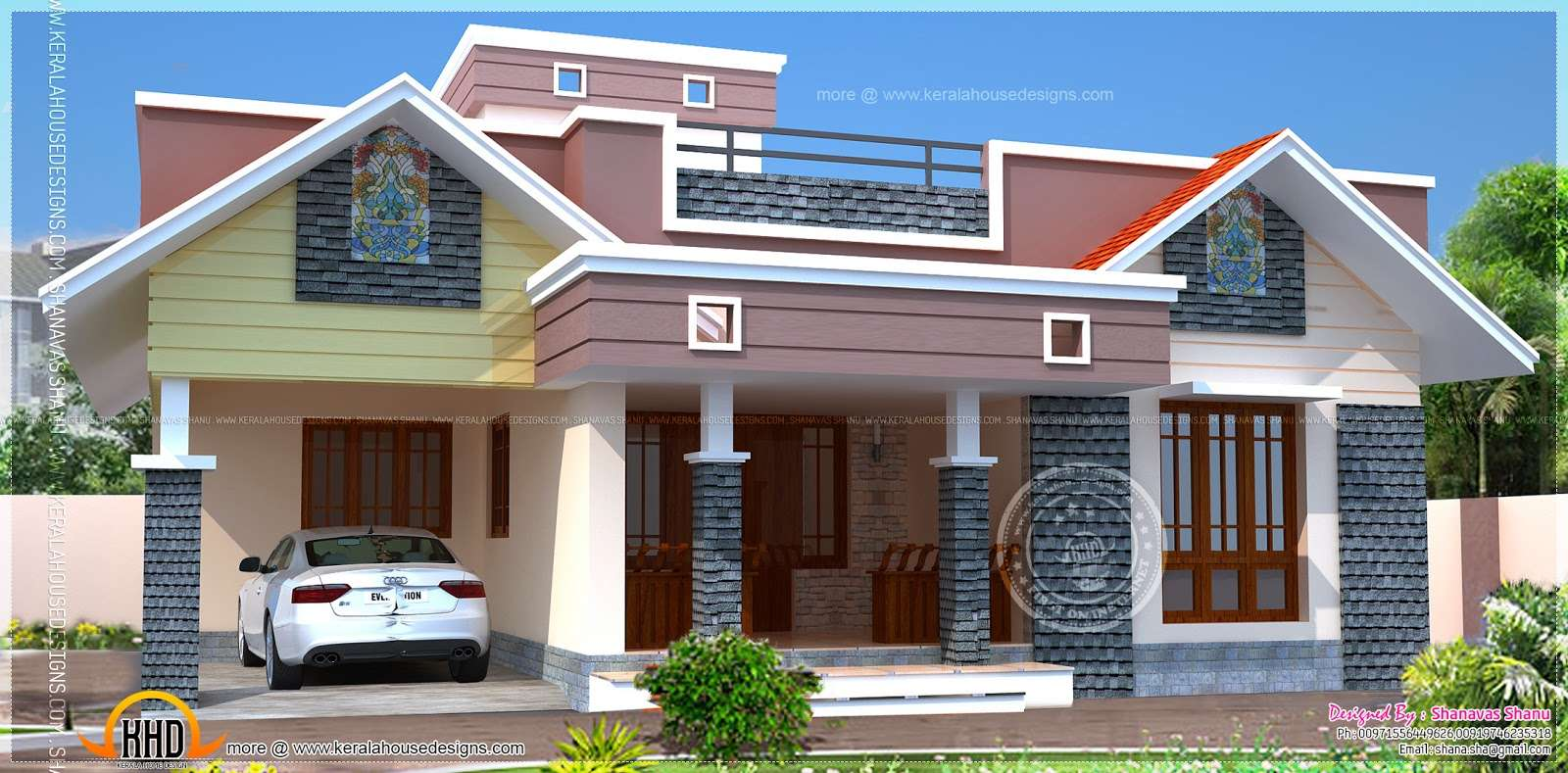 South Indian House Front Elevation Designs. Cool Front Elevation
