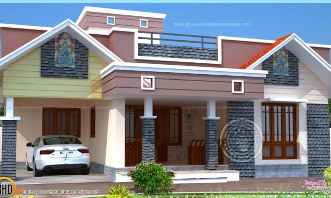 Floor Plan Modern Single Home Kerala