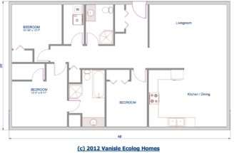 Floor Plan Single Level Ecolog Home