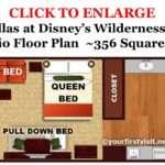 Floor Plan Studio Villas Disney Wilderness Lodge