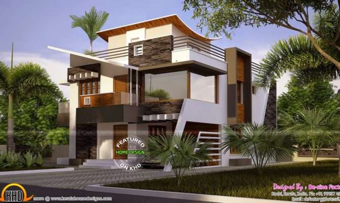 Floor Plan Ultra Modern House Kerala Home Design Plans