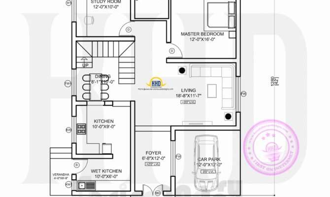 Floor Plan Ultra Modern House Kerala Home Design
