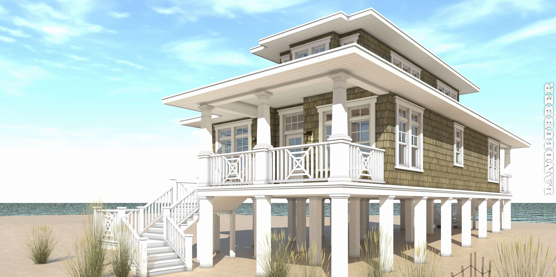 Floor Plan Uncategorized Beach House Plans Pilings