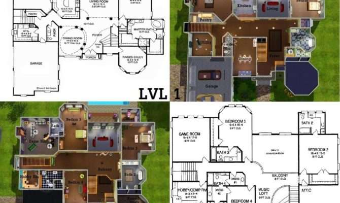 Floor Plans Also Sims House Blueprints Moreover