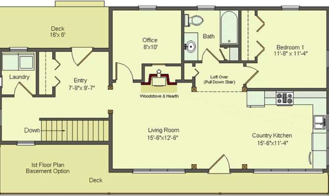 Floor Plans Basement Walkout House