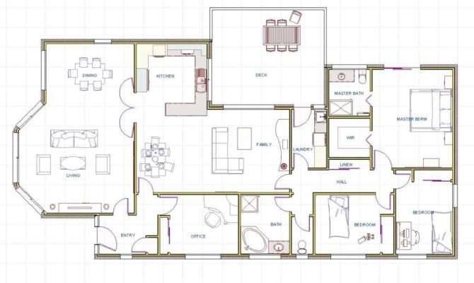 Floor Plans Beach House Contemporary